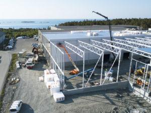 Lekekassen byggeplass - Dronefoto - Grimstad